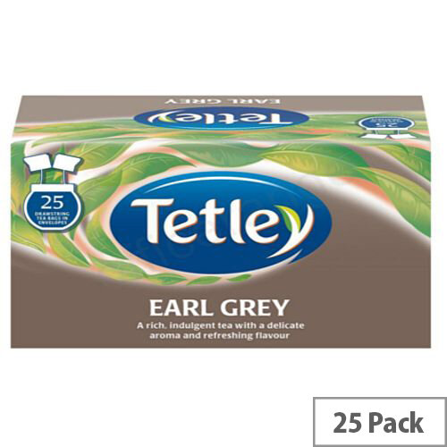 Tetley Earl Grey Tea Drawstring Tea Bags in Envelope Pack of 25 1277A