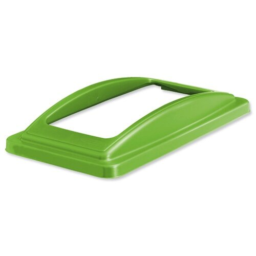 EcoSort Recycling System Waste Lid for Mixed Recycling Wide Open Aperture Green Ref ECOFRAMESPIC11