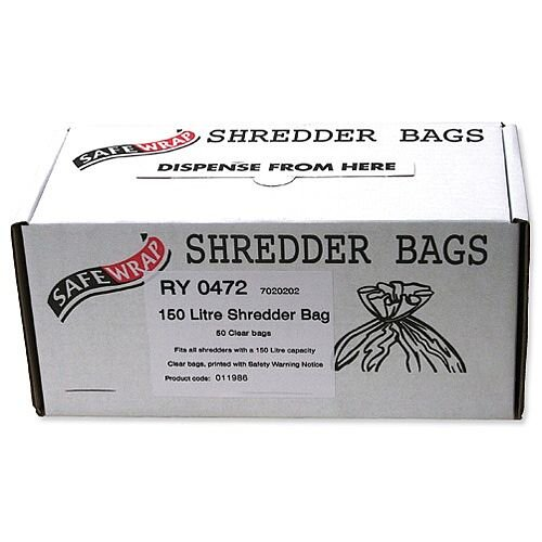 Robinson Young Safewrap Shredder Bags 150 Litre Pack 50