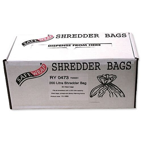 Robinson Young Safewrap Shredder Bags 200 Litre Pack 50
