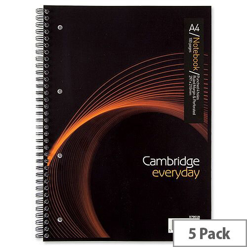 A4 Notebook Wirebound 100 Pages 80gsm Ref 400020193 Cambridge EveryDay [Pack 5]