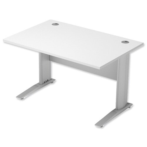 Cantilever Office Desk Rectangular W1200xD800xH725mm White Komo