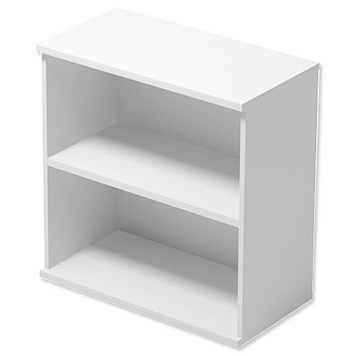 Kito Low Bookcase With Adjustable Shelves &Floor-leveller Feet W800xD420xH770mm White