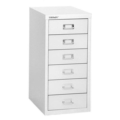 Bisley Soho H590mm Multi Drawer 6 Steel Filing Cabinet