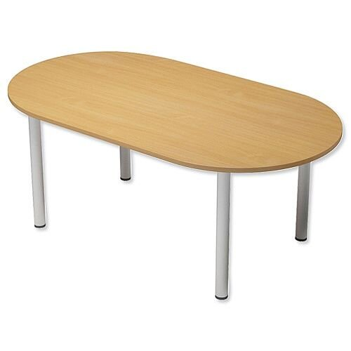 Kito Boardroom Table D-End Post Leg W2000xD1000xH725mm Beech