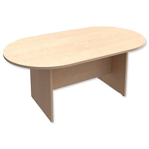 D-End Maple Boardroom Table 1800mm Wide With Panel End Base