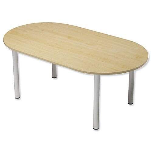 Kito Boardroom Table D-End Post Leg W2000xD1000xH725mm Maple