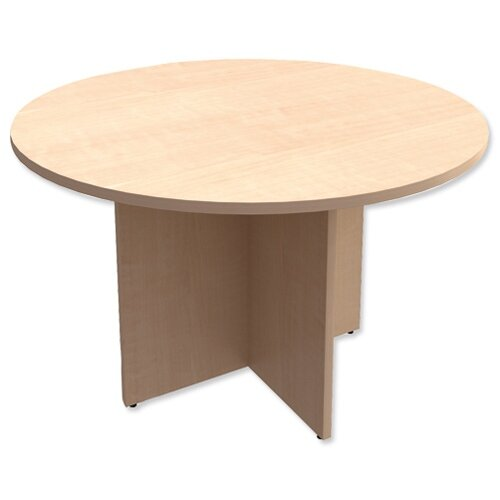 Round Meeting Table X-Panel Legs Dia1200xH725mm Maple Kito
