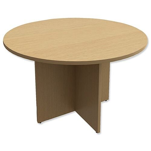 Round Meeting Table X-Panel Legs Dia1200xH725mm Urban Oak Kito