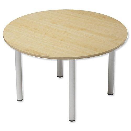 Trexus Boardroom Table Round Post Leg Dia1200xH725mm Maple