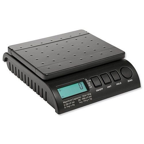 Postship Multi Purpose Scale 2g Increments Capacity16kg Black Ref PS160B