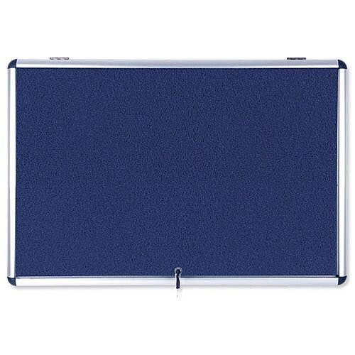 Bi-Office Fire Retardant Display Case Glazed Blue Fabric 8xA4 Ref ST350101150