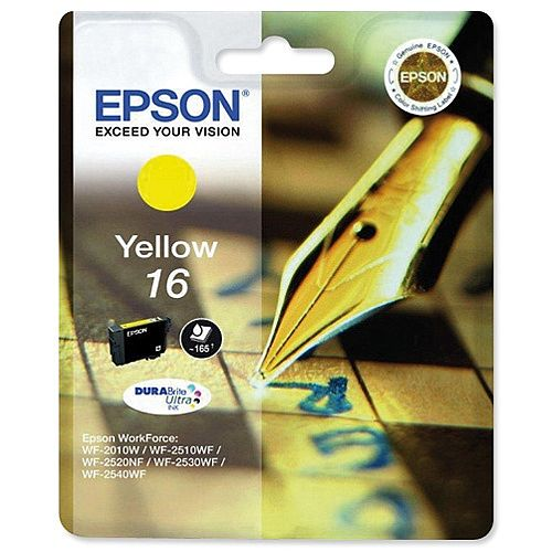 Epson 16 Yellow Inkjet Cartridge Pen &Crossword Series T16244010 C13T16244012