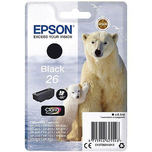 Epson T2601 26 Black Inkjet Cartridge C13T26014010 C13T26014012