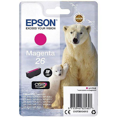 Epson 26 (T2613) Magenta Inkjet Cartridge Capacity 4.5ml Ref C13T26134010 C13T26134012