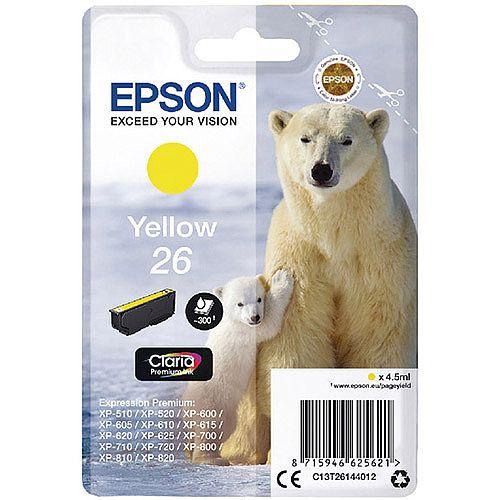 Epson (T2614) Yellow Inkjet Cartridge Capacity 4.5ml Ref C13T26144010 C13T26144012
