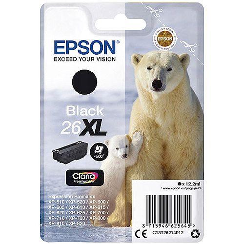 Epson Polar Bear 26XL Black Ink Cartridge T2621 C13T26214012