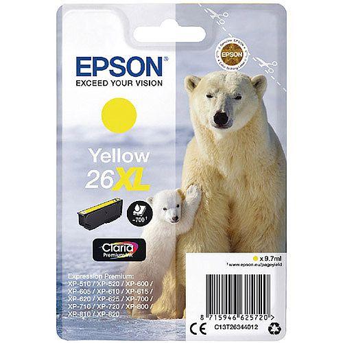 Epson Polar Bear 26XL Yellow Ink Cartridge T2634 C13T26344012