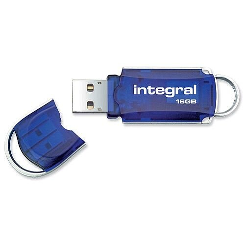 Integral Courier USB 3.0 Memory Stick Blue 16GB