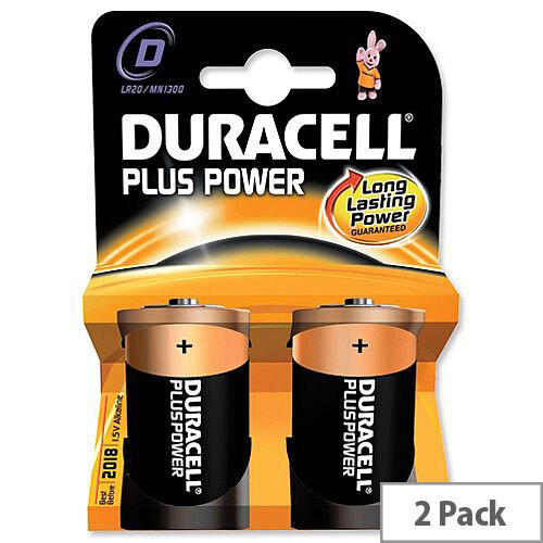 Duracell Ultra Power Size D Batteries Pack of 2 - Suitable For Digital Cameras, Camcorders, Portable Game Consoles, Shavers, Remote Controls, Smoke Alarms &More.