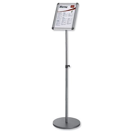Nobo Clip Frame A4 Information Display Stand Silver 1902383