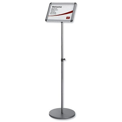 Nobo Clip Frame A3 Information Display Stand Silver Ref 1902384
