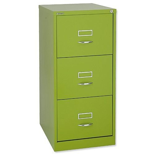 Bisley GLO  3-Drawer Filing Cabinet Green Lime Ref BS3C