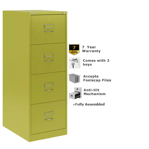 Bisley GLO Filing Cabinet 4-Drawer Green Lime Ref BS4C