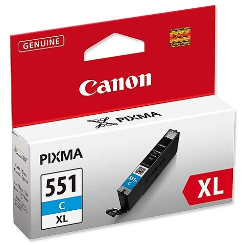 Canon CLI-551C XL High Yield Cyan Inkjet Cartridge 6444B001