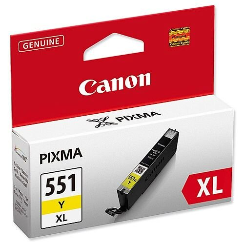 Canon CLI-551Y XL High Yield Yellow Inkjet Cartridge 6446B001