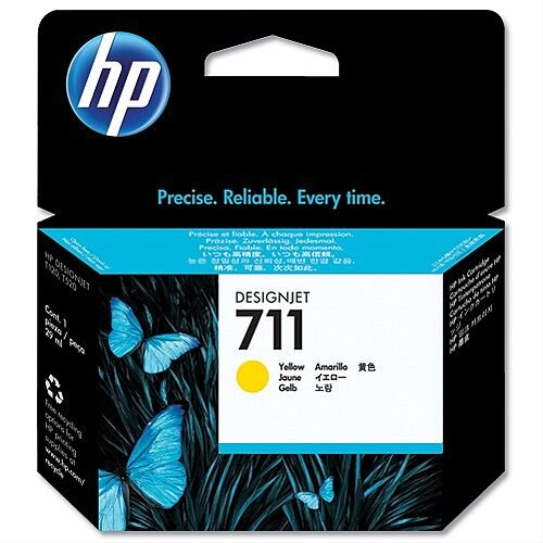 HP 711 Yellow Inkjet Cartridge 29ml CZ132A