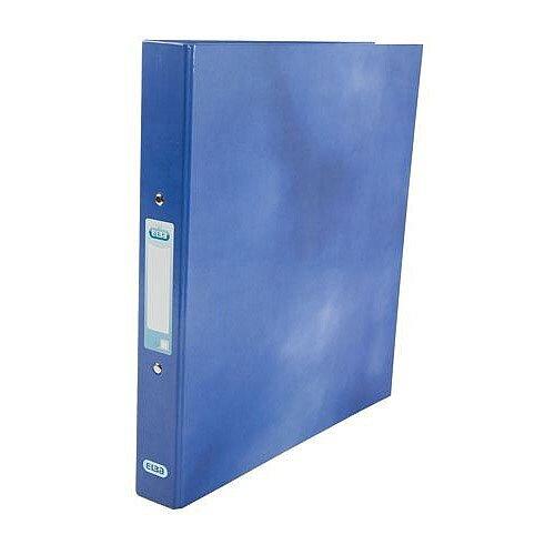 Elba Ring Binder Laminated Gloss Finish 2 O-Ring 25mm Size A4 Blue Ref 400017754