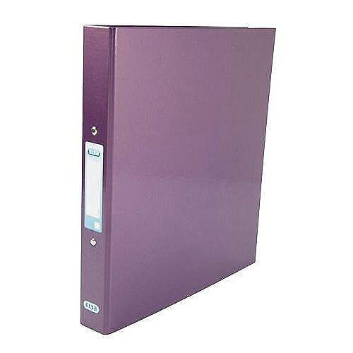 Elba Ring Binder Laminated Gloss Finish 2 O-Ring 25mm Size A4 Metallic Purple Ref 400017758
