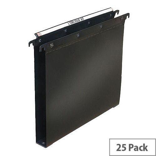 Elba Ultimate Vertical Suspension File Polypropylene 30mm Foolscap Black Ref 100330372 [Pack 25]