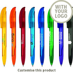 Challenger Soft Clear Pen 10489519 - Customise with your brand, logo or promo text