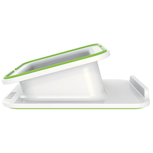 Leitz Complete Ergonomic Desk Stand &Grip for iPad/Tablet/Mobile - Colour: White