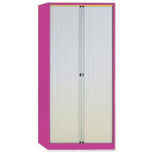 GLO by Bisley Tambour Cupboard Steel Side-opening H1016mm Pink Ref AST40W Pink