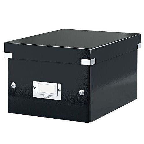 Leitz Click and Store Collapsible Archive Box Small For A5 Black Ref 60430095