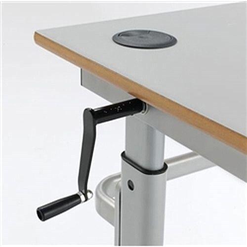 Height Adjustable Rectangular Table 18mm Top W1200xD600xH460mm-820mm Beech Ref HA200-126-MDP-BH-SV