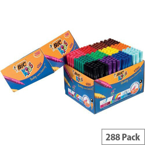 Bic Visa Felt Class Pack Assorted Pack 288