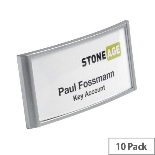 Durable CLassic Name Badge Combi Clip 30x65mm Ref 854123