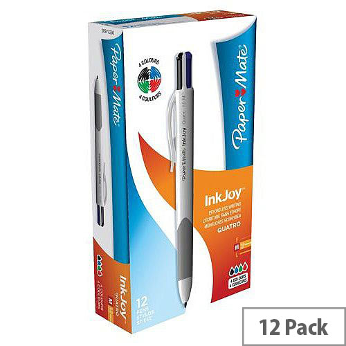 Paper Mate Inkjoy Pen Quatro 4-Colour Ref S0977260 [Pack 12]