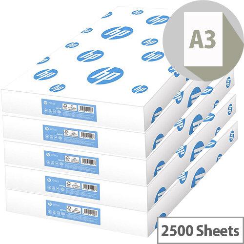 HP Hewlett Packard Office Paper A3 80gsm White 500 Sheets