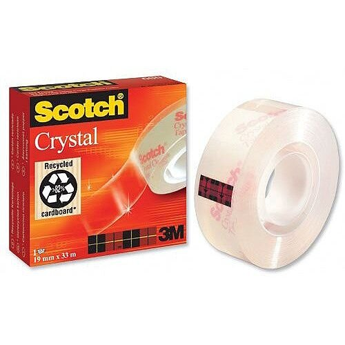 Scotch Crystal Tape 19mmx33m Ref 6001933