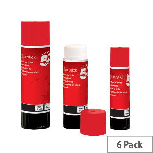 5 Star Glue Stick Small 10gm [Pack 6]