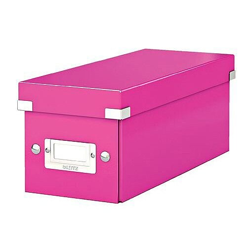 Leitz WOW Click and Store CD Box Pink Ref 60410023