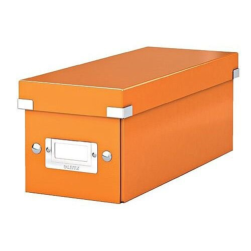 Leitz WOW Click and Store CD Box Orange Ref 60410044