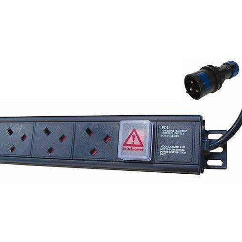 10 Way Vertical PDU to 32a Commando Plug