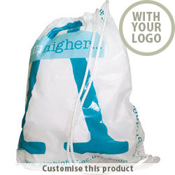 Duffle Style Polythene Carrier Bag 111270 - Customise with your brand, logo or promo text