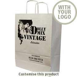 Twisted Paper Handle Carrier Bag 111272 - Customise with your brand, logo or promo text